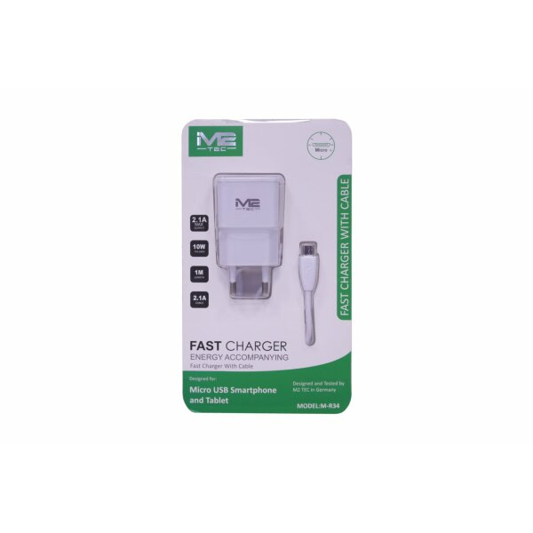 M2 Tec Fast Charger 2in1 Micro-USB M-R34